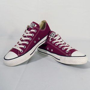 CONVERSE All Star Women's US 8 Low Tops Plum Color